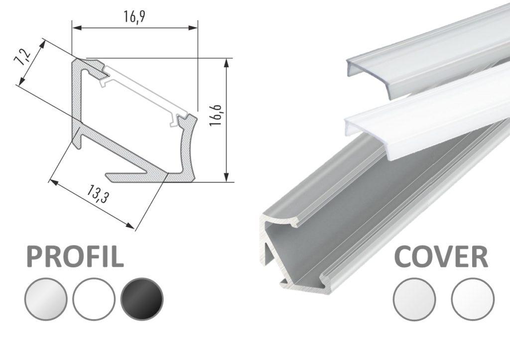 LED Winkel-Profil
