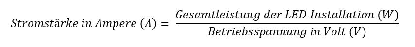 Berechnung Stromstärke