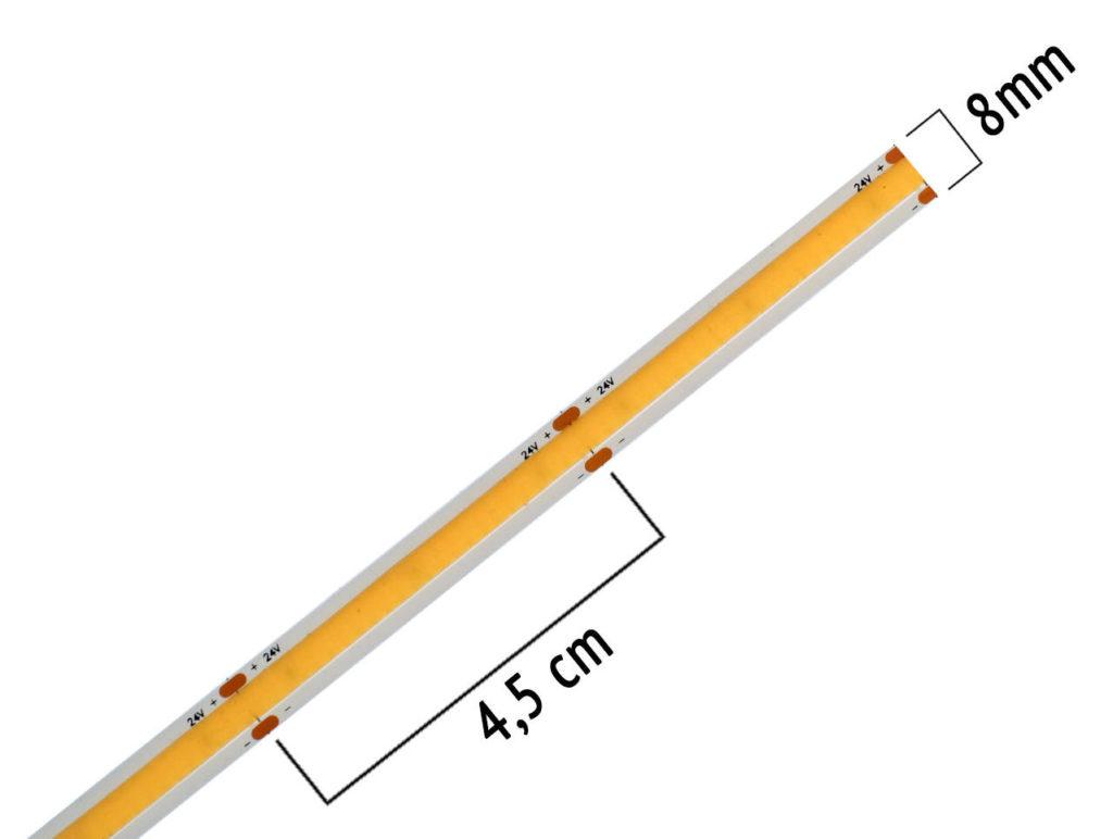 Teilbarkeit bei COB-LED-Streifen