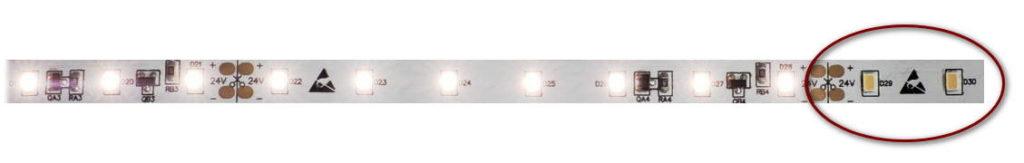 LED-Segment durchtrennt, leuchtet nicht