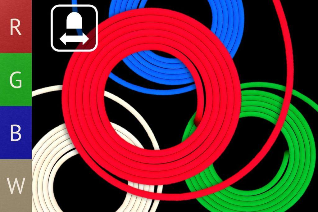 RGB-Neonflex, horizontal biegbar