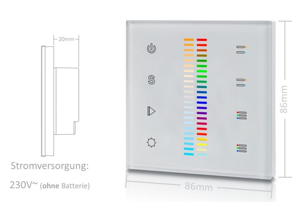 RGB+CCT Wandsteuerung